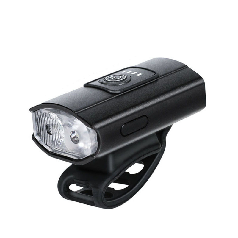 LED Bike Headlight Bicycle Head Light Front Lamp Cycling Black USB Rechargeable