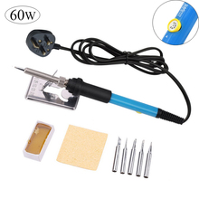 60W New Electric Soldering Iron Adjustable Temperature ESD Welding Solder Iron Rework Station Heat Pencil for DIY Wood Carving