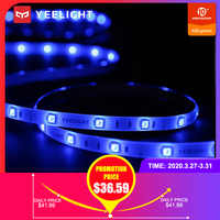 Yeelight inteligentna dioda led kolorowa taśma 16 milionów kolorów światła otoczenia taśma rgb światła z APP sterowanie głosem 2m Lightstrip