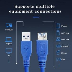 Image 2 - Usb 3.0 macho para fêmea 5gbps cabo linha de extensão do porto computador cabo de dados de transmissão estável de alta velocidade cabo de cobre