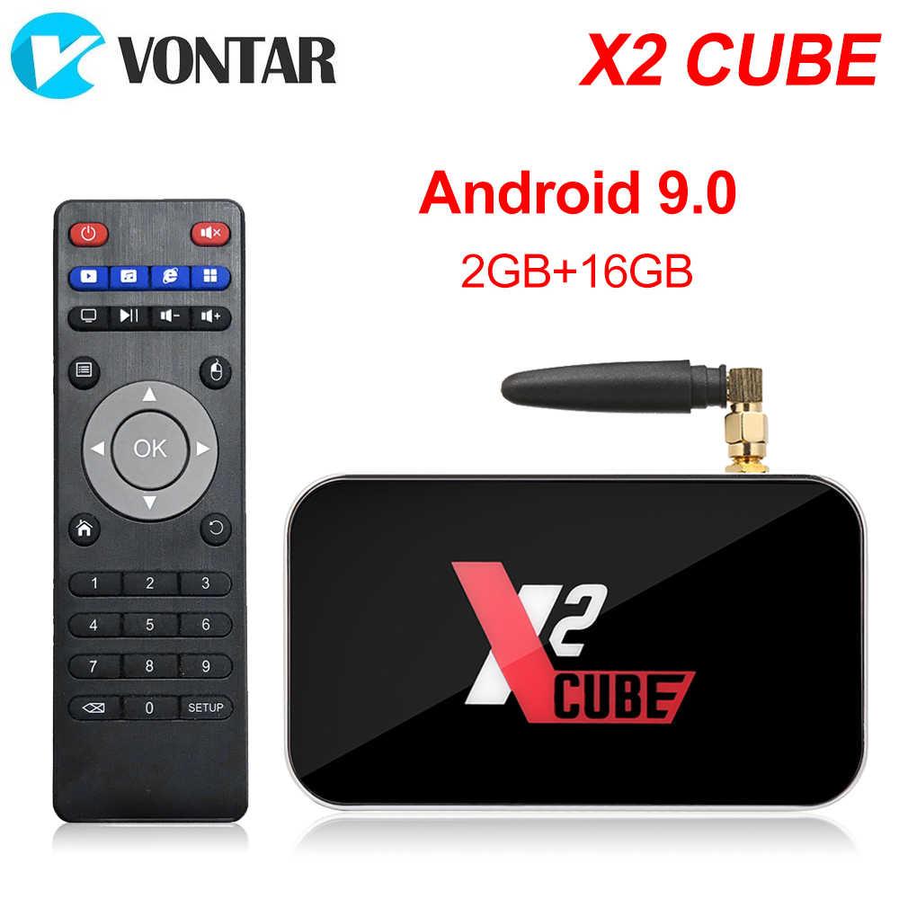 X2 برو صندوق التلفزيون أندرويد 9.0 4GB RAM DDR4 32GB الذكية Amlogic S905X2 X2 مكعب 2GB 16GB مجموعة صندوق فوقي 2.4G/5G واي فاي 1000M 4K مشغل الوسائط