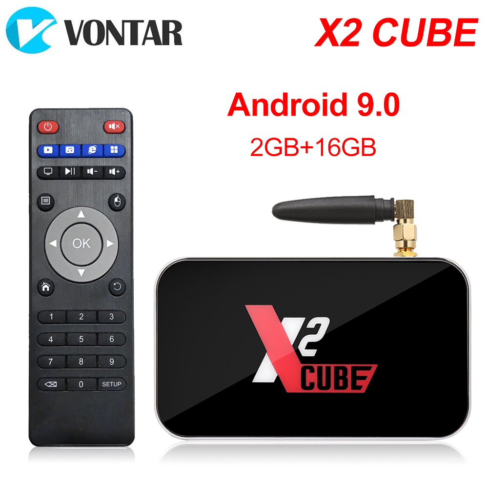 Image 2 - X2 Pro TV Box Android 9.0 4GB RAM DDR4 32GB Smart Amlogic S905X2 X2 cube 2GB 16GB Set Top Box 2.4G/5G WiFi 1000M 4K Media Player-in Set-top Boxes from Consumer Electronics