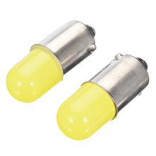 2pcs BA9S T4W COB LED Silica Car License Plate Light Turn Signal Bulb Parking Lights Door Lamp White 12V 10pcs heat durable t4w led ba9s cob 30ma round 3d t11 363 1 smd car license plate light bulb for car door lamp white 12v