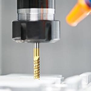 Image 4 - 10pcs/Set 0.8 3.175mm Titanium Coated Carbide End Milling Cutter Engraving Edge Cutter CNC Router Bits End Mill For PCB Machine