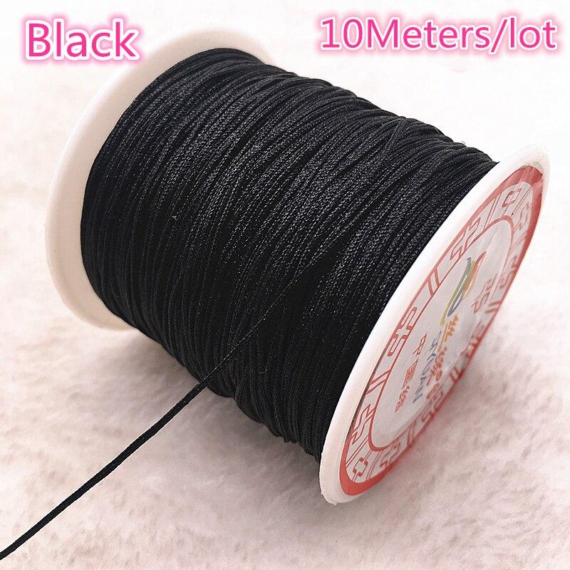 0.8mm Colorful Braided Nylon Cord Imitation Silk String Thread about 100Yard