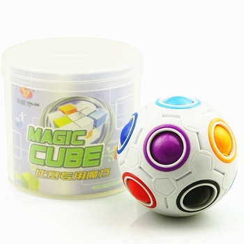 Yongjun cubo magico creativo velocidad rompecabezas de arco iris bola de fútbol cubo mágico Juguetes Educativos de aprendizaje para niños juguetes Niño
