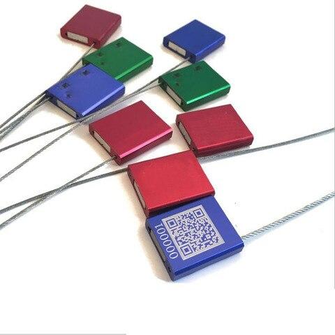 100 pces cabo descartavel lacos liga de aluminio aco fio selo anti roubo chumbo selo