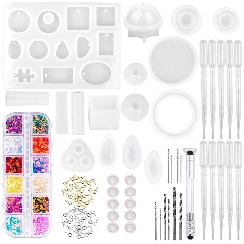 Resin Molds, 149 Pieces Silicone Resin Casting Molds And Tools Kit For Jewelry Resin Craft Making