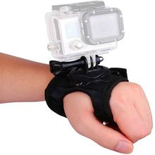 360 תואר סיבוב רצועת יד עם בורג לgopro Hero 7 6 5 SJCAM Xiaomi יי יד רצועת זרוע רצועה חצובה הר שרוול מתאם