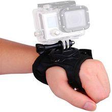 Correa de mano de rotación de 360 grados con tornillo para GoPro Hero 7 6 5 SJCAM Xiaomi Yi, correa para brazo, adaptador de brazalete de montaje para trípode