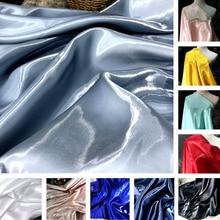 Liquid Light Water Light Satin Fabric Thick Satin Highlight Crystal Satin Clothing Designer Creative Diy Wedding Dress Fabric