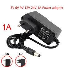 AC DC 전원 공급 장치 어댑터 범용 5V 6V 9V 12 V 24V 1A 충전기 어댑터 220V 12 V 24V 변압기 LED 스트립 조명 램프