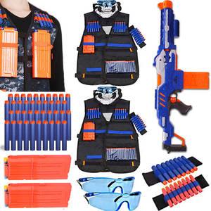 Toys Clip-Darts Gun-Accessories Ammo-Holder Bullets Nerf-Mask Pistol Elite Tactical Kids