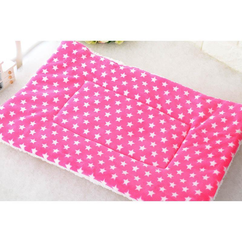 Winter Warm Pet Dog Soft Cushion Large Print Flannel Cotton Mattress Cat Pet Mat Bed Pad Rug Cartoon Printed Cat And Dog Pad 7