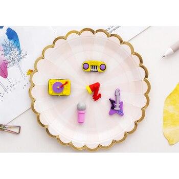 5pcs/lot creative party music instruments series Eraser Set Rubber Pencil Erasers School Prizes Kid Gifts onemix music series autumn
