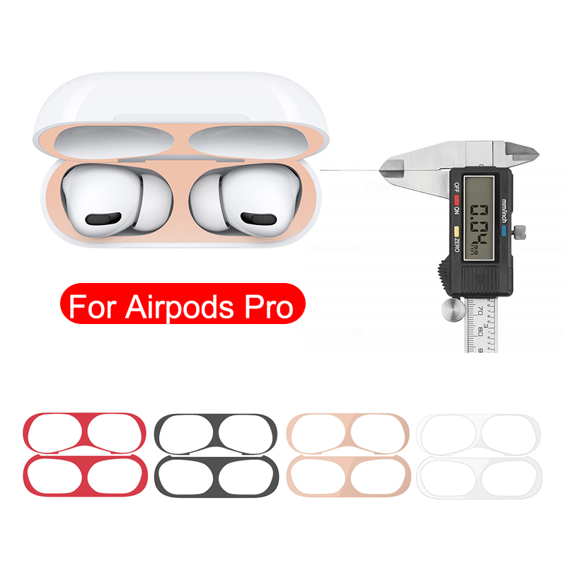 Metal Dust Guard Sticker For Airpods Pro Skin Protective Sticker For Apple Airpods 3 Earphone Charging Box Case Cover Shell Skin