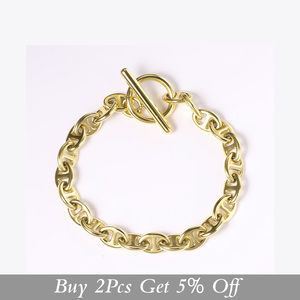 Image 2 - ENFASHION גיאומטרי חלול צמיד Femme זהב צבע נירוסטה פאנק צמידי נשים תכשיטים חברים מתנה B2046