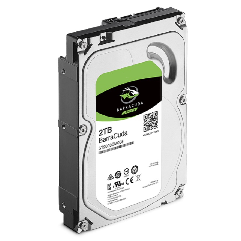 """New HDD For Seagate Brand BarraCuda 2TB 3.5"""" SATA 6 Gb/s 256MB 7200RPM For Internal Hard Disk For DesktopHDD For ST2000DM008 3"""