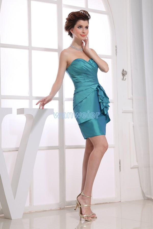 Free Shipping Vestidos Formales 2016 New Hot Seller High Quality Designer Maid Dresses Short Blue Sexy Tiered Bridesmaid Dresses