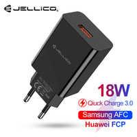 Jellico 18W QC 3.0 USB szybka ładowarka do telefonu podróży adapter ścienny QC3.0 FCP AFC uniwersalny dla iPhone Samsung Huawei Xiaomi ue wtyczka