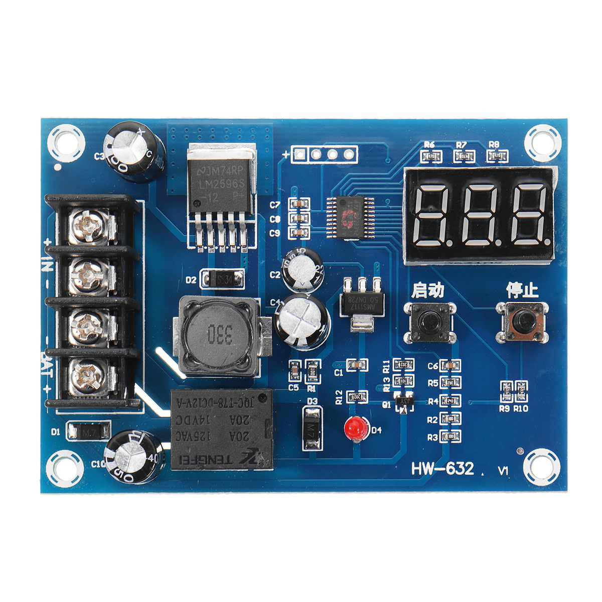 XH-M603 DC 12-24V Charging Control Module Lithium Storage Battery Control Switch Protection Board