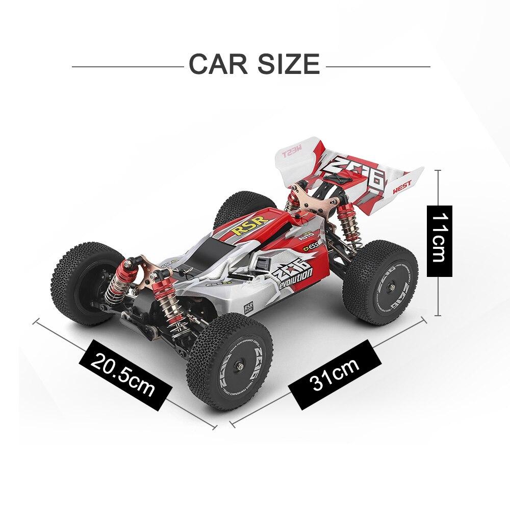 WLtoys 144001 959A 959B 2,4G гоночный RC автомобиль 70 км/ч 4WD Электрический высокоскоростной автомобиль внедорожник дрейф дистанционное управление игрушки для детей 5