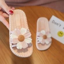 Summer Girls Sandals Slides Kids Beach Sandals Flower Princess Sweet Slippers For Bath Swimming Indoor Outdoor Children Shoes