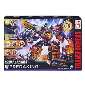 Hasbro 5in1 Transformers Voyager Class Predacon Collectible Autobots Predaking Power of The Prime Car Robots Models Collection 1
