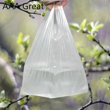 Bolsa de plástico útil Popular, bolsa de compra transparente, bolsas de plástico para supermercado con asa, tienda de envasado de alimentos
