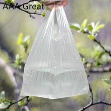 Popüler yararlı plastik alışveriş çantası şeffaf alışveriş çantası süpermarket plastik kulplu çanta gıda ambalaj mağaza
