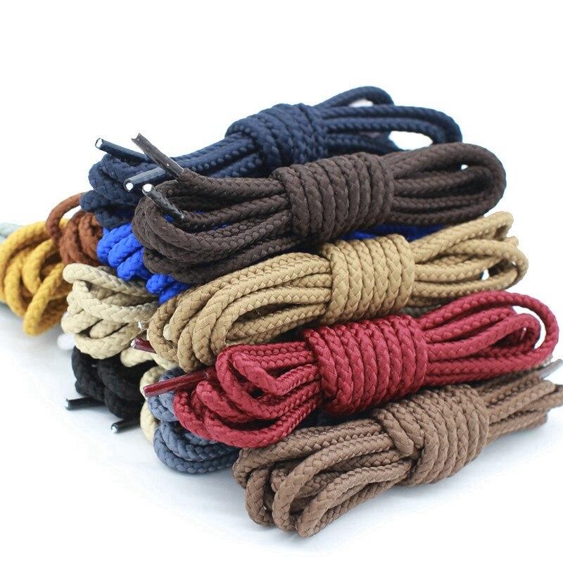 1 Pair Polyester Solid Shoe Laces Round Shoelaces Kids Adult Unisex Non-slip Shoe Lace Length 80 100 120 140 160CM 14 Colors