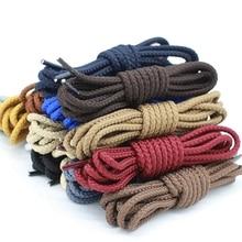 1 Pair Polyester Solid Shoe laces Round Shoelaces Kids Adult Unisex Non-slip lace Length 80 100 120 140 160CM 14 Colors