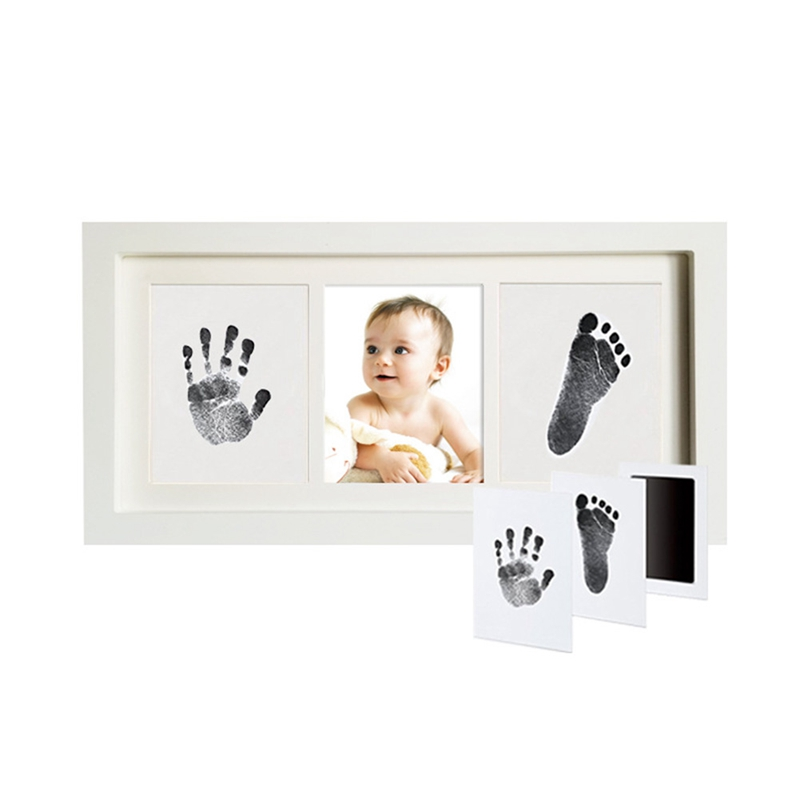 Baby Hand Footprint Photo Frame Newborn Growth Record Souvenir Creative Picture Frames Baby Shower Gift