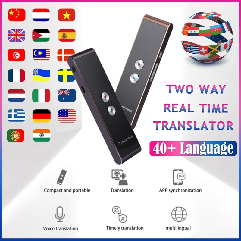 Smart Voice Translator Portable Speech Two-Way Instant 40 Multi-Language Translation For Learning Travelling Business Meeting