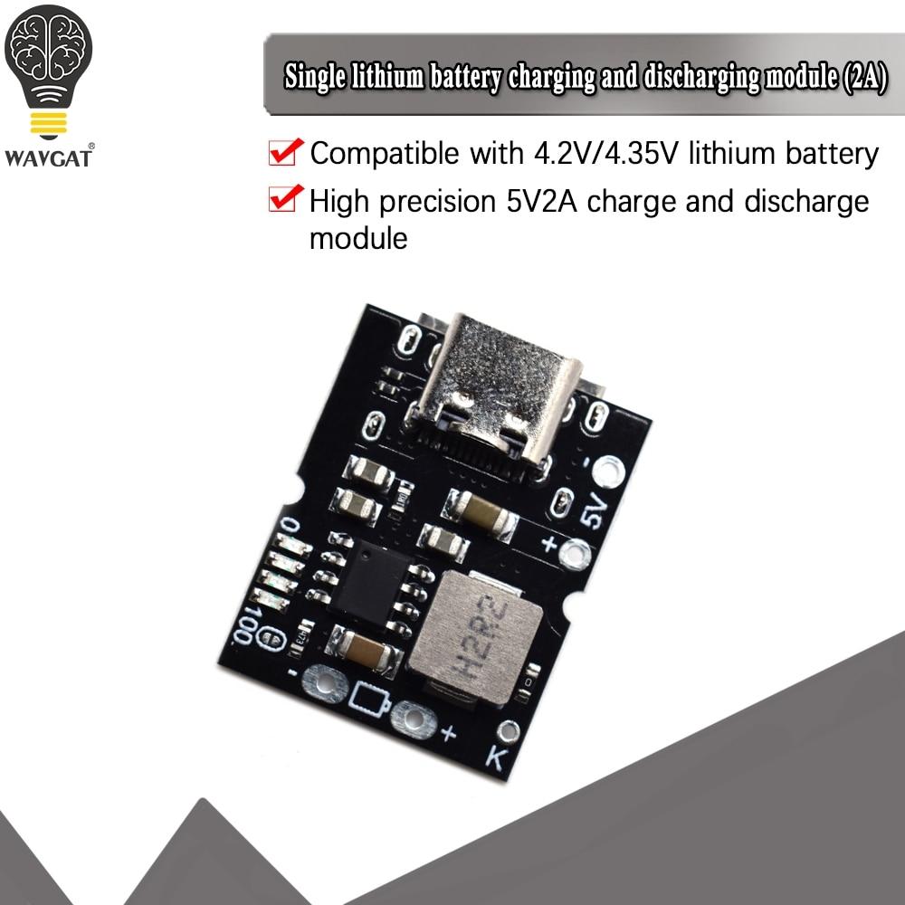 Type-C USB 5V 2A повышающий преобразователь Повышающий Модуль питания литиевая батарея Зарядка плата защиты светодиодный дисплей USB для самостоя...