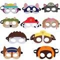 Вечерние Детские маски «Щенячий патруль», 10 шт., вечерние фетровые маски с веревкой для костюмированной вечеринки, Вечерние Маски для мальч...