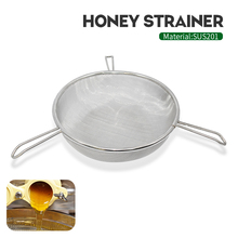 Honey Filter Network Screen Mesh Stainless Steel Strainer With 3 Fixed Support Beekeeping Tools for honey extractor