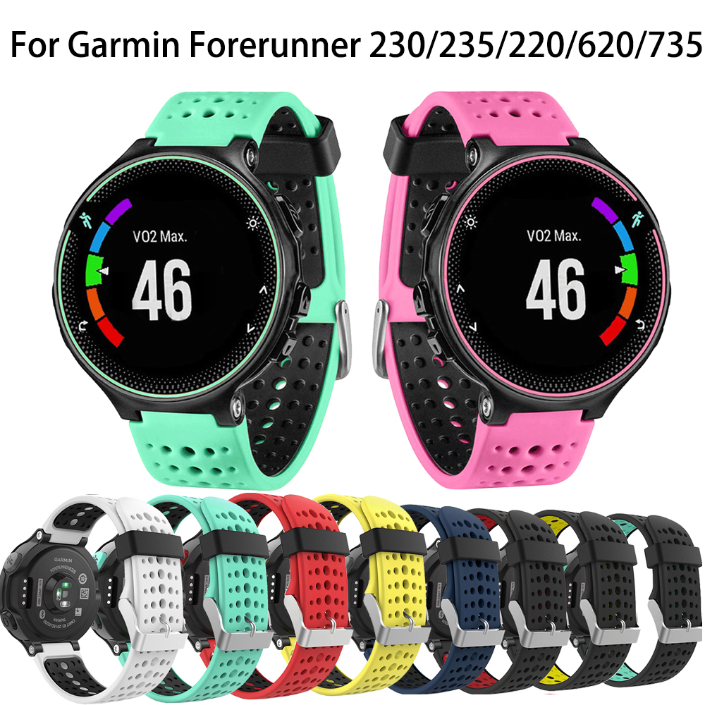 Silicone Replacement Belt Wrist Band Watch Strap For Garmin Forerunner 220 230 235 630 620 735 Approach S20 S5 S6 Smart Watch