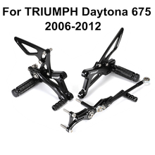 Pegs Footrests Rear-Sets Triumph Adjustable Street Triple Daytona 675 CNC for D30