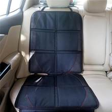 Universele Polyester Pu Auto Seat Cover Protector Seat Bescherming Kussen Mat Kind Baby Kids Stoelen Auto Accessoires Zwart(China)