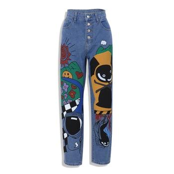 Cartoon Printed Jeans  2
