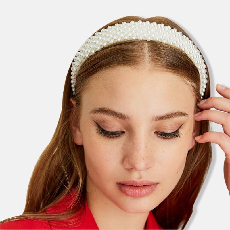 New Hot Sale  Fashion Temperament Pearl Headband Elegant Pearl Headdress Hair Accessories For Women Luxury Headband Hairbrands