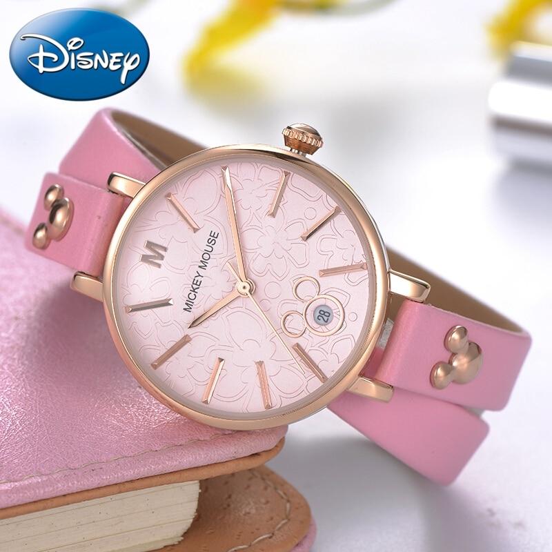 Ladies Leather Strap Bracelet Watch Women Quartz Round Fashion Casual Trendy Wrist Watches Lady Clock Girls Time Gift Montre New