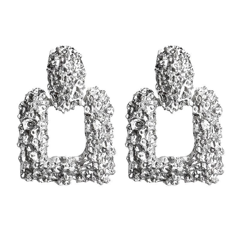 Mostyle 30 стилей модные большие винтажные золотые серебряные розовые золотые геометрические массивные металлические Висячие серьги для женщин - Окраска металла: 62956