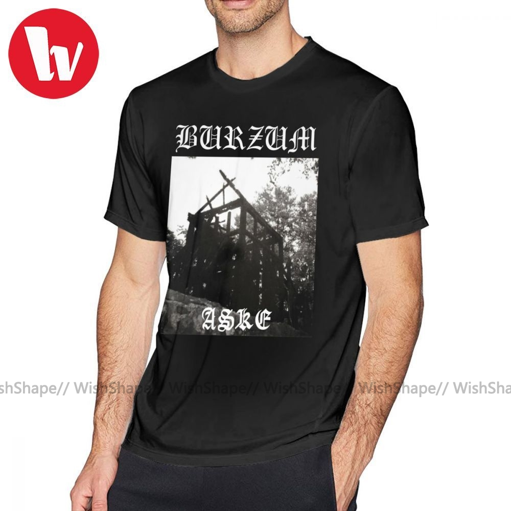 Burzum T Shirt Burzum Aske T-Shirt Mens Short Sleeve Tee Shirt Fun Print Beach 100 Cotton Oversize Tshirt