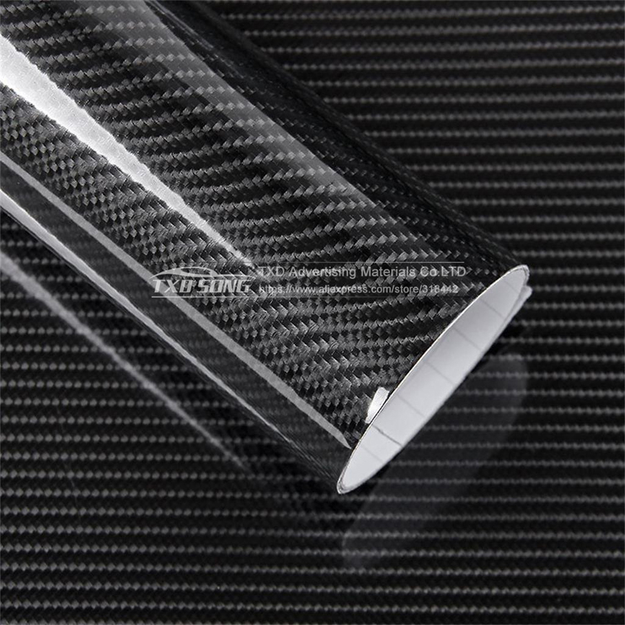 Image 3 - Ultra Gloss 5D Carbon Fiber Vinyl Wrap 3D Texture Super Glossy 5D Carbon Film With Size: 10/20/30/40/50/60x152cm-in Car Stickers from Automobiles & Motorcycles
