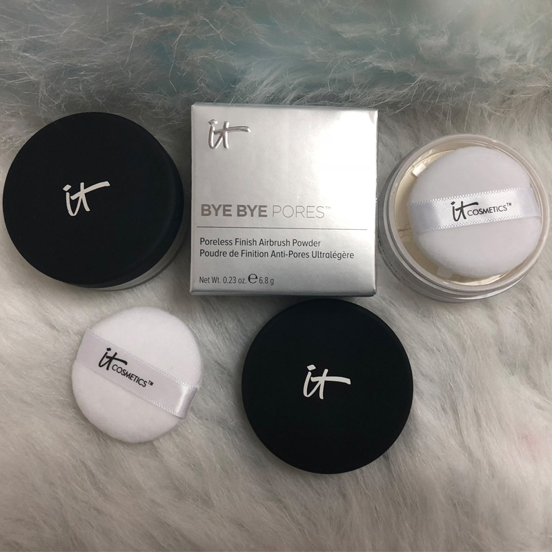 12pcs/lot it cosmetics it bye bye pores poreless finish airbrush powder 6.8g matte Loose powder silk antioxidants powder