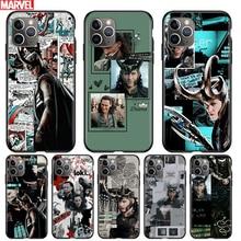 Marvel Avengers Loki Für Apple iPhone 12 11 Pro Max mini XS Max XR X 8 7 6 6S plus 5S SE 2020 Weichen Schwarz Telefon Fall