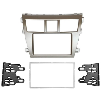 Double Din Fascia for Toyota Vios 2008 Belta Yaris Sedan Radio DVD Stereo Panel Dash Mounting Installation Trim Kit Frame Bezel image