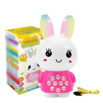 Mini Cartoon Rabbit Intelligent Story Electronic Toy Music Sound Story Machine Baby Early Educational Learning Christmas Gifts image